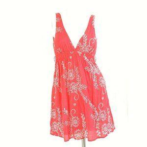 Forever 21 Boho Floral Eyelet Empire Waist Dress